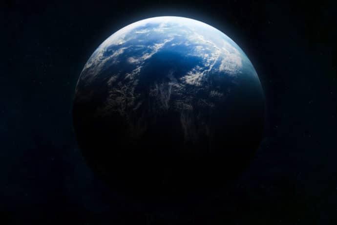 Foto espacial do planeta Terra.